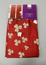 "Lush Decor Flower Drops Window Panel CD4 Red Size 42"" x 84"" NWT"