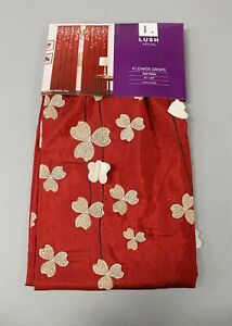 "Lush Decor Flower Drops Window Panel CD4 Red Size 42"" x 84"" NWT"