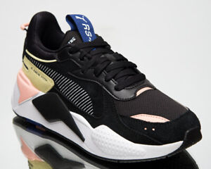Puma  RS-X Reinvent Women's Black Yellow Pink Casual Lifestyle Sneakers Shoes