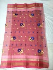 BENGAL HANDLOOM TANT WITH STITCHED FLOWER 100% COTTON