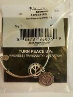 Alex and Ani Turn Peace Up Charm Bangle