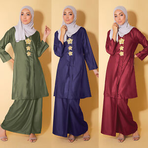 New Muslimah Bell Long sleeve Kebarung Classic Plus Size Quality Cotton Dress