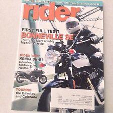 Rider Magazine Bonneville SE Triumph's Classic August 2009 061017nonrh