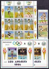 Paraguay 1983 Olympiade Olympic Los Angeles 1984 Mi. 3629-31, Bl. 388 A+B **