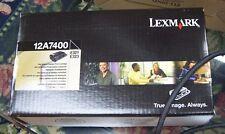 New GENUINE Lexmark E321 E323 Laser Printer Black Toner 12A7400 Return Program