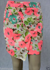 Above Knee Cotton Blend Hand-wash Only Floral Skirts for Women