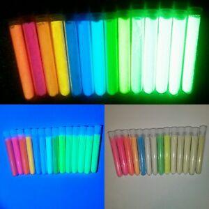 SET 14 Nachtleuchtpulver Pigment für bastel Epoxid Lack Harz LEUCHTFARBE Glüh UV