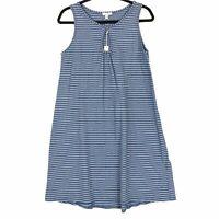 Max Studio size Small dress blue stripe sleeveless jersey S NEW