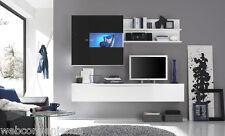 Parete Attrezzata Primo H Nero Mobile Porta TV da Soggiorno Moderno Laccato