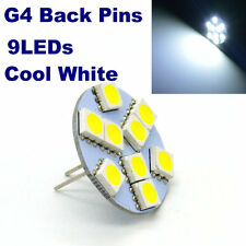 4x Back Pins G4 LED Bulb Halogen Replacement 9LEDs Cool White Crystal Chandelier