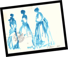 Blue Birds Ladies in Waiting 2015 Contemporary Art Abstract PAINTING SIGNED