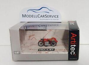 """Artitec 1/87: 387.29 US Motorcycle Harley-Davidson Liberator """", Red, Mit Sidecar"""