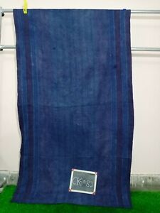 Vintage Kantha Quilt Ralli Reversible Indian Old Blanket Throw Indigo Dyed Ralli