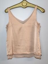 H&M Women's Peach Sleeveless Tank Top Size 4 Double V-neck  Pullover Summer