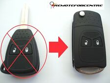 2 button flip key case upgrade for Chrysler Dodge Jeep remote key fob