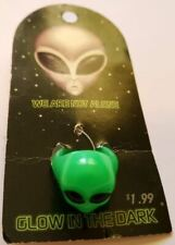 Vintage Plastic Glow in the Dark Alien Face Ring, Green