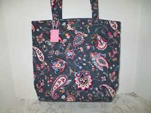 VERA BRADLEY ICONIC  TOTE BAG  FELICITY PAISLEY   -   NWT -  AWESOME PATTERN!