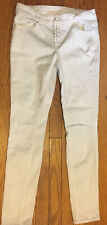 """Almost Famous 30""""x30"""" White 7 Skinny Jeans Pants Cotton Blend 535"""