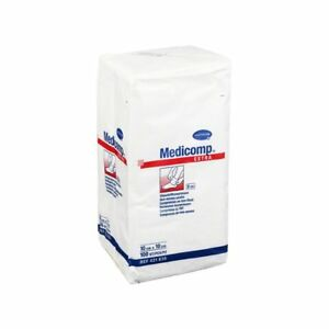 Medicomp Compresses Extra 10x10cm Non-Sterile, Pack of 100