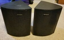 Optimus Satellite Home Theater Speakers Pair 40-4055 Full Range Bi-directional