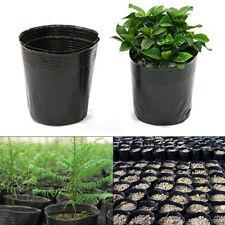 100Pcs Plant Gardening Supplies Nursery Pots Plastic Round Flower Pot Garden New