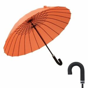 Long Umbrella Double Parasol Chinese Style Windproof Wooden Handle Umbrellas New