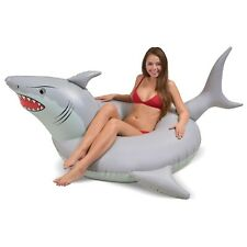 GoFloats 'Great White Bite' Shark Party Tube Inflatable Raft | Fun Pool Float