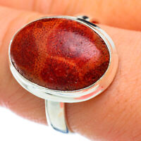 Sponge Coral 925 Sterling Silver Ring Size 9.75 Ana Co Jewelry R48039F