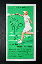 Tennis    Outratova   Czech Woman Player    Original Vintage Action Card # VGC