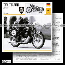 #059.18 TWN (TRIUMPH) 350 BOSS 1954 Fiche Moto Motorcycle Card