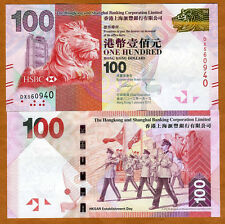 Hong Kong, $100, 2012, HSBC, P-213-New, UNC > Lion