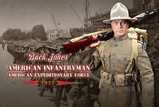 Dragon in Dreams ha fatto 1/6 US WW I BUCK JONES SOLDATO AMERICANO 1917