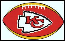 KANSAS CITY CHIEFS OVAL FOOTBALL NFL LICENSED TEAM LOGO INDOOR DECAL STICKER
