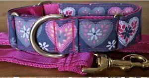 Boomerjacks Patchwork Hearts Martingale Collar/Greyhound/Whippet//Many Breeds