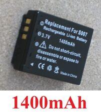 Akku 1400mAh Typ S007A S007E DMW-BCD10 für Panasonic lumix DMC-TZ3GK