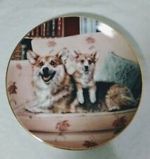 """Corgi-Danbury Mint Collector Plate by Rick Garland """"Couch Potatoes � #A2577"""
