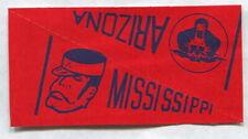 1961 NU-CARDS FOOTBALL PENNANT ARIZONA & MISSISSIPPI