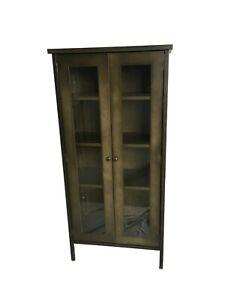 Display / Storage Tall Cabinet - 2 Door - Elixir Range - Antique Bronze