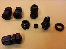 Lot de 5 presse étoupe noir étanche PG7 pour câble de 3 à 6mm, perçage de 12mm