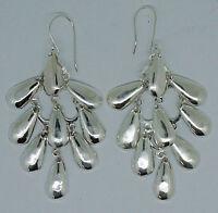Designer 925 Sterling Silver Long Dangle Design Earrings -  NEW - #I4