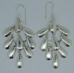 Chandelier party Earrings in 925 Sterling Silver Long Dangle Designer Earrings
