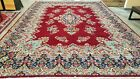 11'6X16' ANTIQUE HAND-KNOTTED KERMANI TABRIZI KASHI RED VINTAGE WOOL TRADITIONAL