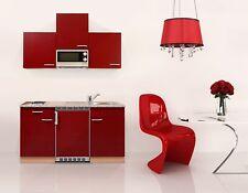 Mini Cucina Singola Blocco Angolo Cottura 150 cm Faggio Rosso Respekta