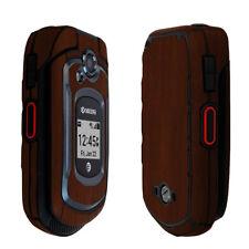Skinomi Dark Wood Skin & Screen Protector for Kyocera DuraXe
