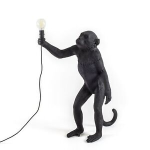 Seletti Monkey Standing Up Floor Lamp Black Floor or Desk Lamp Outdoor or Indoor
