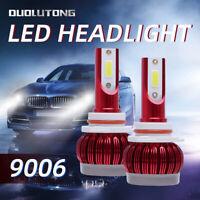 2X 9006 HB4 C6 100W  6000K Car COB LED Headlight Conversion Hi//Lo Bulb Lamp