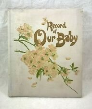 """Antique Ernest Nister """"Record of Our Baby"""" Book No. 1379 Unused"""