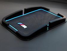 BMW M Sport Car Anti Slip Mat Accessory Phone Holder Dashboard Gripper Blue Pad