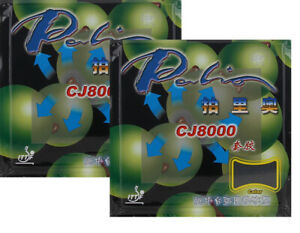 2x Palio CJ8000 Near-Middle Table Loop/Attack Pips-In Rubber/Sponge, USD