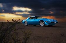 1979 Pontiac Trans Am 24 X 36 INCH POSTER, classic muscle car, blue, front